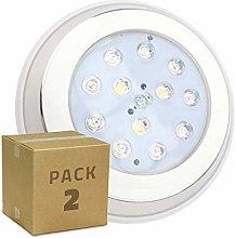 LEDKIA LIGHTING Pack Foco Piscina LED RGBW Inox