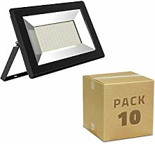 LEDKIA LIGHTING Pack Foco Proyector LED 10W Solid