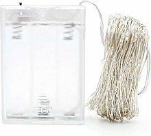 LEDLUX Guirnalda luminosa LED a pilas con cable de