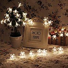 LEDMOMO 50 LED Flores Guirnalda Luminosa Cadena de