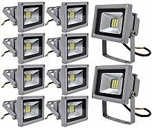 Leetop 10 X 20W Blanco Frio Luz Proyector LED Foco