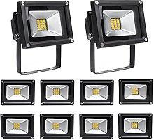 Leetop 10X 20W Blanco Cálido Luz Proyector LED