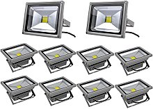Leetop 10X 20W Foco LED Proyector de Luz Lámpara