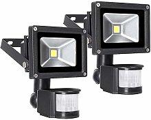 Leetop 2x10W 20W 30W 50W Foco LED con Sensor