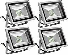 Leetop 4 X 30W Blanco Frio Luz Proyector LED Foco