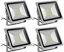 Leetop 4 X 50W Blanco Frio Luz Proyector LED Foco