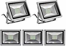 Leetop 5 X 30W Blanco Frio Luz Proyector LED Foco