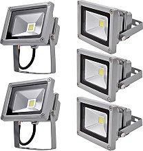 Leetop 5pcs 10W Blanco Cálido LED Foco Proyector