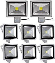 Leetop 8X 50W Blanco Frio LED Foco Proyector Luz,