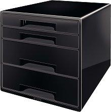 Leitz Cubo de 4 cajones de escritorio negro