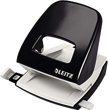 Leitz Perforadora de metal para oficina NeXXt negra