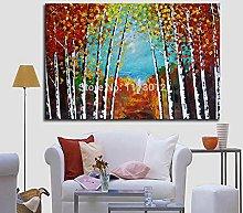 LEPOTN Árbol Moderno Paisaje Pintura al óleo