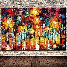 LEPOTN Cuchillo Pintura al óleo Moderna sobre