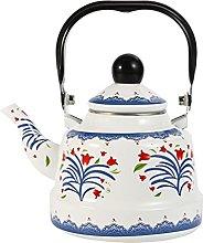 LICHUAN Hervidor de té esmaltado para estufa de