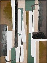 Lienzo abstracto multicolor 60x80