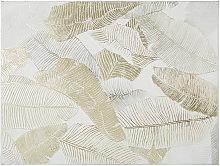 Lienzo blanco pintado y dorado 90x120