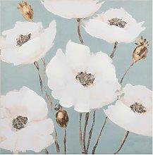 Lienzo con estampado floral 65x65