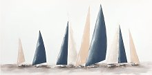Lienzo con pintura de barcos 90 x 45