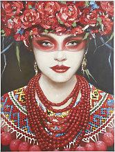 Lienzo con retrato pintado 90x120