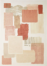 Lienzo estampado rosa y beige 80x110