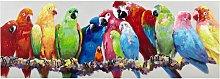 Lienzo loros multicolor 70x200
