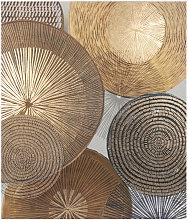Lienzo marrón, dorado y blanco 60x70
