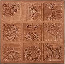 Lienzo marrón pintado 100 x 100 cm
