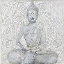 Lienzo pintado gris estatua 120x120