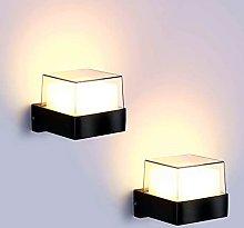 Lightess 2pcs 10W Apliques Pared Exterior Lámpara