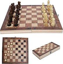 LILAODA Conjunto de ajedrez Plegable Plegable