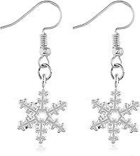 LILOVE Fashion Snowflake Earrings Personality
