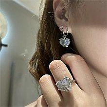 LILOVE Love Heart Gem Earrings, Fashion Gem Love