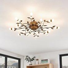 Lindby Bentas lámpara LED de techo de metal bronce