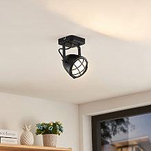 Lindby Biona foco de techo LED, anillo oro, 1 luz