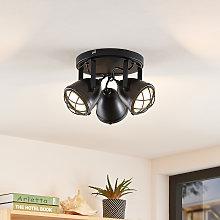 Lindby Biona foco de techo LED, anillo oro, 3 luz