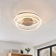 Lindby Davian lámpara LED de techo, níquel