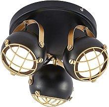 Lindby Dawid foco de techo LED en oro, 3 luces