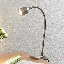 Lindby Djamila flexo LED, níquel satén