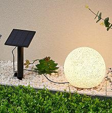 Lindby Hamela decorativa solar LED, RGB, 20cm