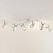 Lindby Jadon foco de techo LED, blanco, 6 luces