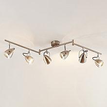 Lindby Jadon foco de techo LED, níquel, 6 luces