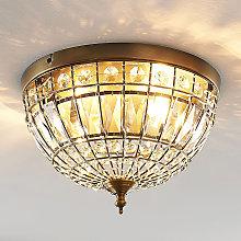 Lindby Jamaal lámpara de techo de cristal