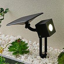 Lindby Kordt lámpara LED solar para pared o suelo