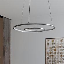 Lindby Lucy lámpara colgante LED, 45 cm, cromo