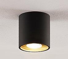 Lindby Parvin downlight aluminio, redonda, negra