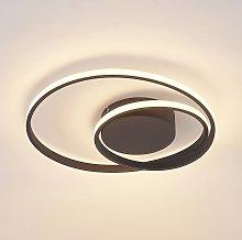 Lindby plafón LED Emisua CCT atenuable negro