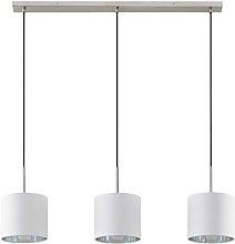 Lindby Trinika lámpara colgante textil en blanco
