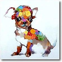 Lindo Cachorro 100% Pintado A Mano Modernas Obras
