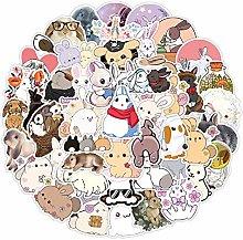 Lindo conejo dibujos animados pegatinas bicicleta