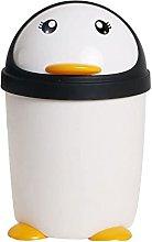 Lindo pingüino cubo de basura hogar baño grande